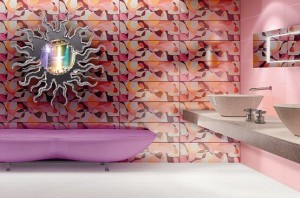 pink retro bathroom