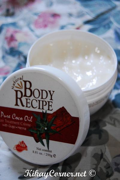 body recipe pure coco oil