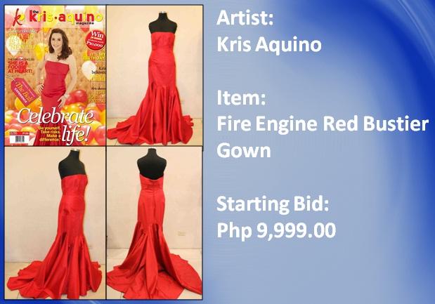 Kris Aquino Fire Engine Red Gown   Kikay Corner