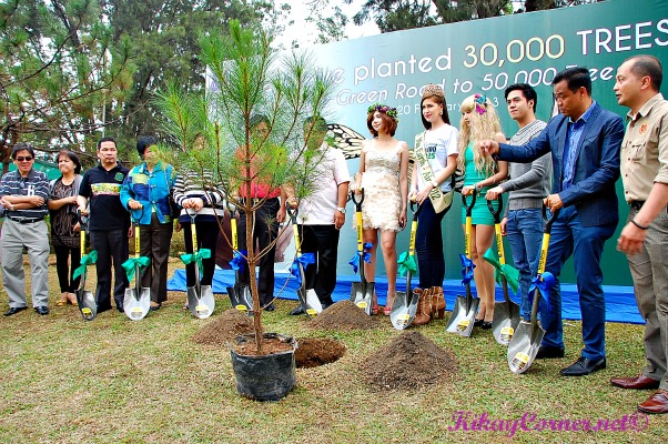 Tree planting with Alodia, Ms. Earth, Ashley and Sam Concepcion