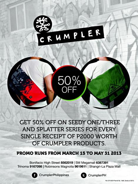 Crumpler Seedy-Splatter Promo