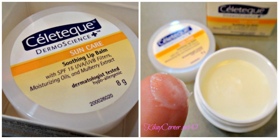 celeteque soothing lip balm