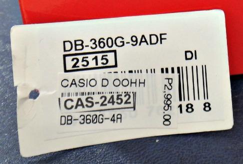 db 360 casio vintage price tag