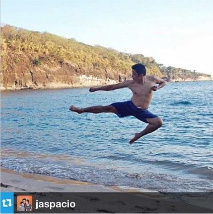 beach karate moves