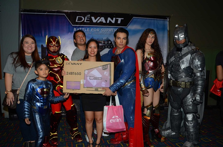 Grand Prize Winner Ms. Joan Velasco of Robinsons Appliance     of a 24inch Devant LED TV (1)