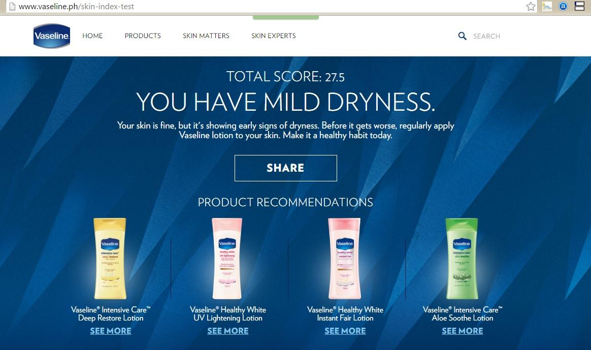Vaseline Skin Index
