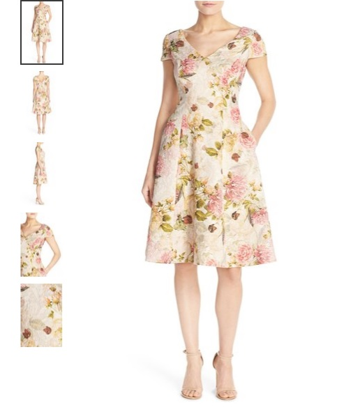 Adrianna Papell Floral Matelassé Fit & Flare Dress