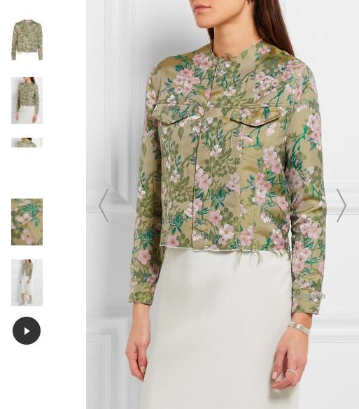 MARQUES' ALMEIDA Frayed brocade jacket