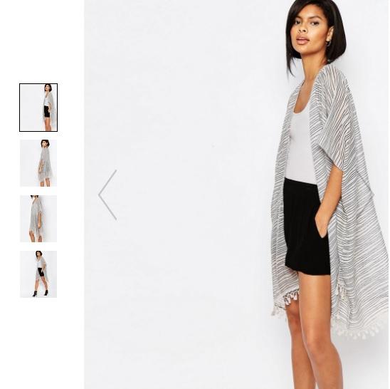 Vero Moda Stripe Fringe Trim Kimono