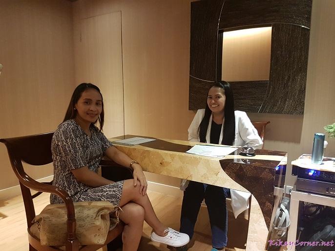 Diana Stalder in house dermatologist consult Dr. Anne Capistrano