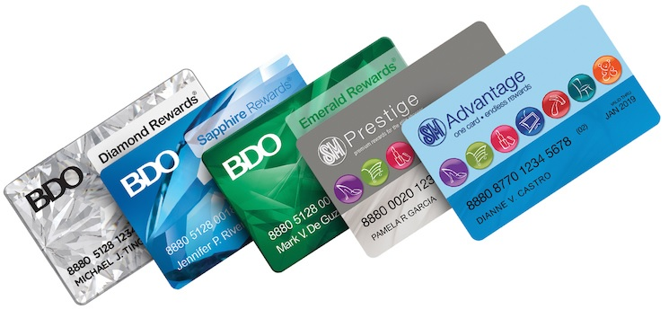 SM Advantage and BDO Rewards Cards