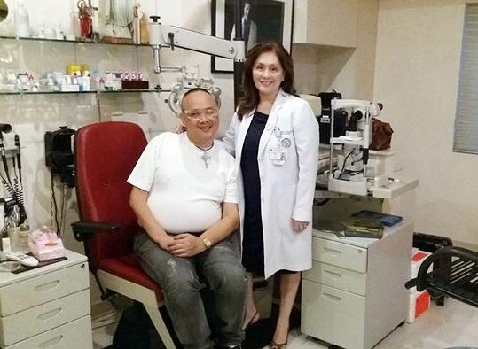 Angelino Boyet Fajardo with Dr.Minguita Padilla