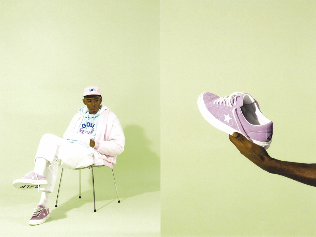 Purple ONE STAR x GOLF LE FLEUR converse collection