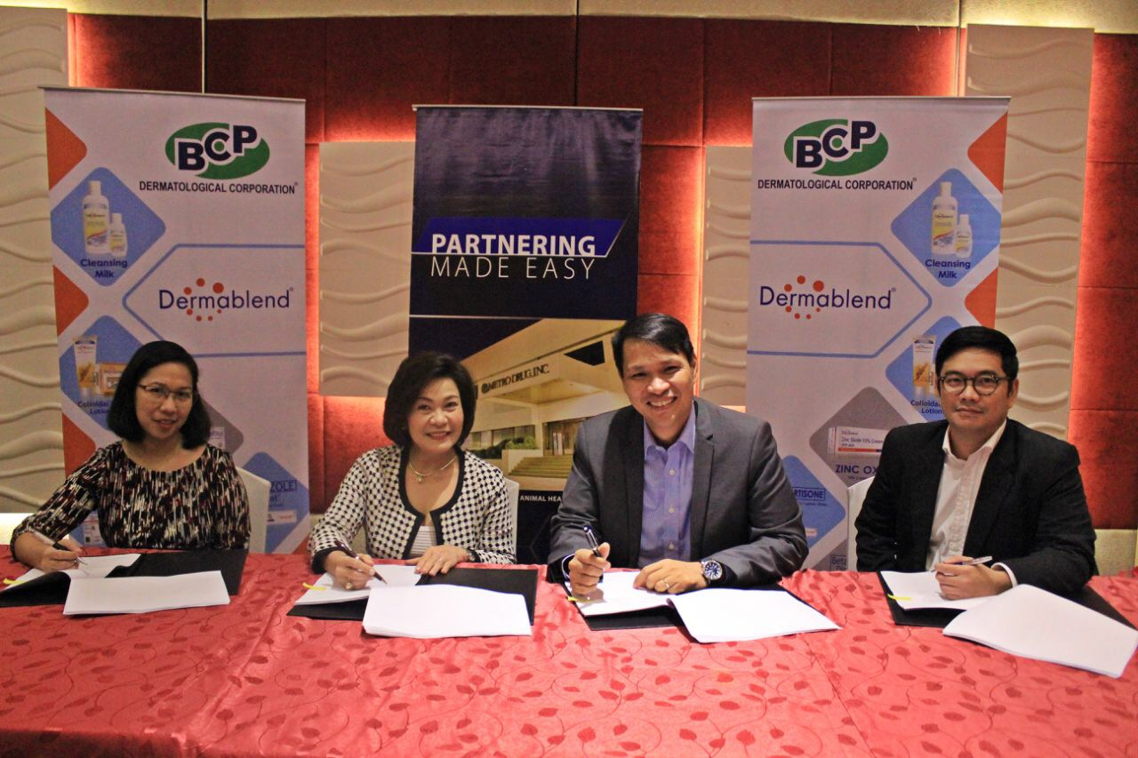 Contract signing of BCP Dermatological Corporation and MetroDrug, Inc.