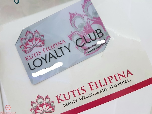 Kutis Filipina Loyalty Club Membership Card