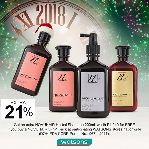 Watsons NOVUHAIR Christmas & Year End Promo ad