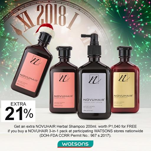 Watsons NOVUHAIR Christmas & Year End Promo ad