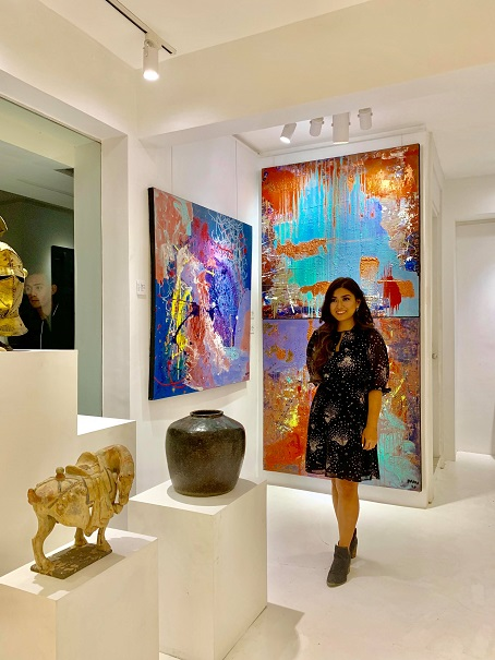 Artist Nadine Ibay at the NMI Art Gallery