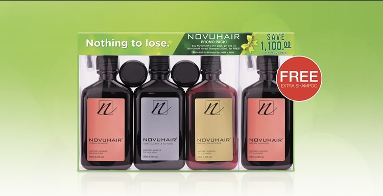 FREE Extra NOVUHAIR Herbal Shampoo Exclusive at Watsons