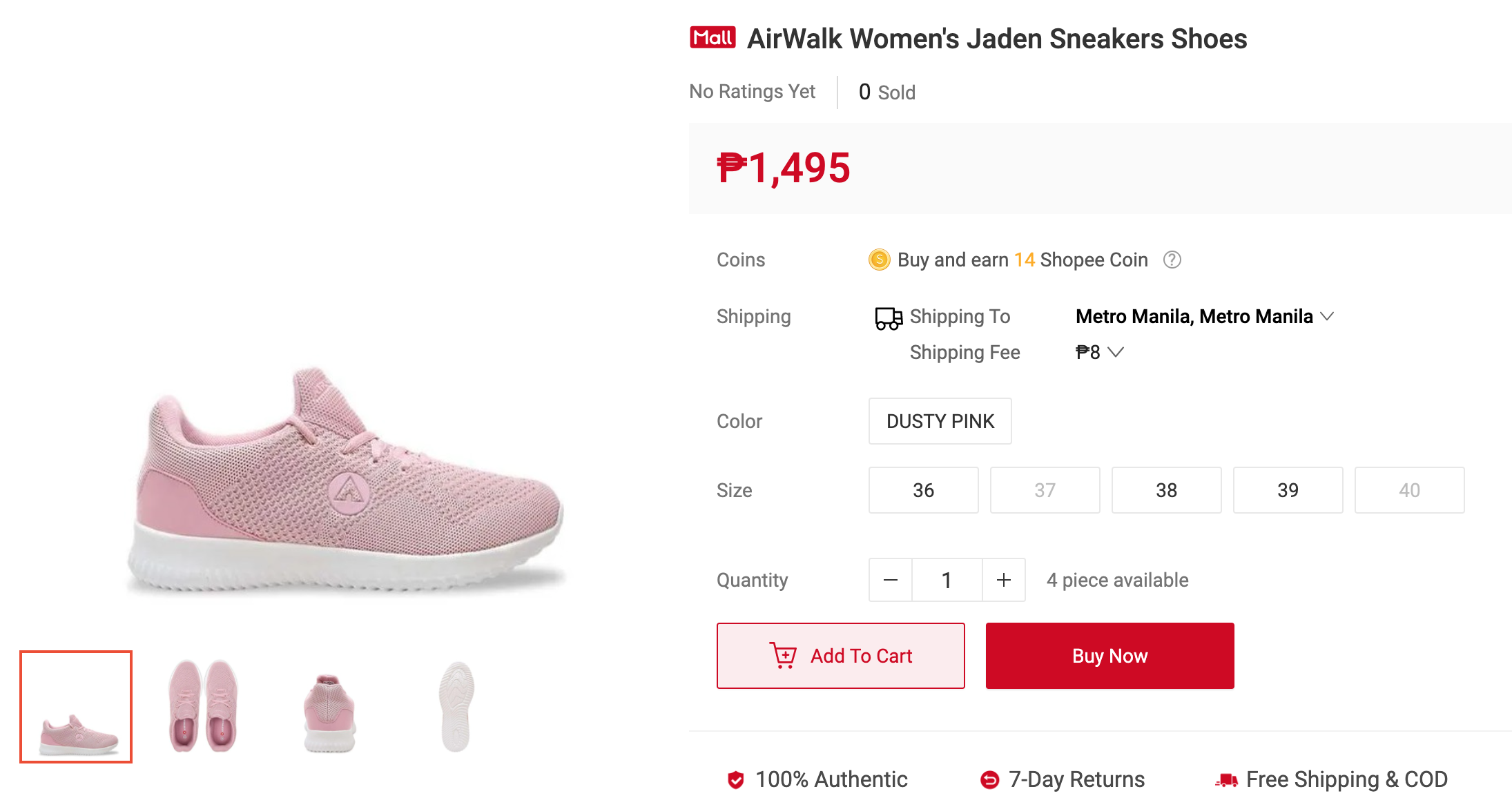Arena and Airwalk launch under Planet Sports on Shopee
