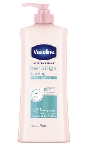 vaseline fresh and bright cooling lotion