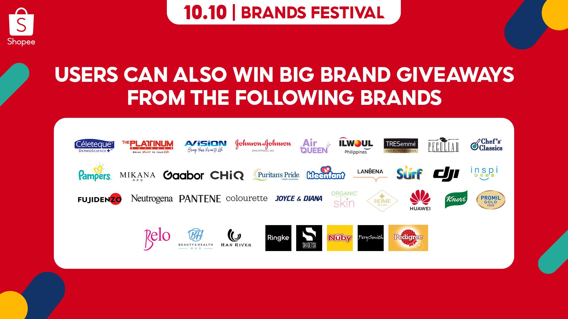 10.10 Launch PR Big Brand Giveaways